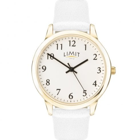 Limit Classic White Dial White Strap Ladies Watch 60004