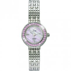 Limit Diamond Pink Dial Stainless Steel Bracelet Ladies Watch 6796