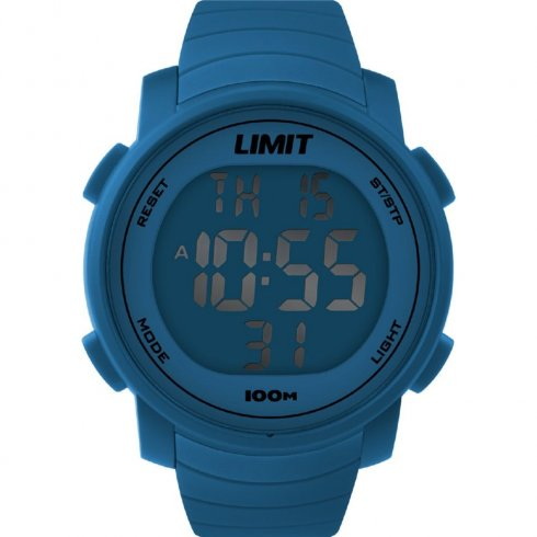 Limit Digital blue dial chronograph resin strap Mens watch 6967