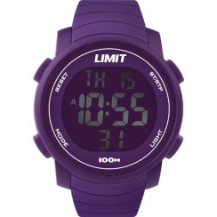 Limit Digital Chronograph Purple Resin Strap Mens Watch 6966