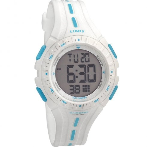 Limit Digital Chronograph White Strap Children Watch 5395