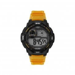 Limit Digital Stopwatch Yellow Resin Strap Gents Watch 5708