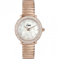 Limit Divine White Dial Rose Gold Expander Bracelet Ladies Watch 6942