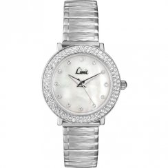 Limit Divine White Mother of Pearl Dial Stainless Steel Expander Ladies Watch 6941