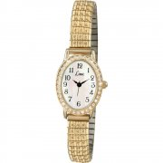 Limit Easy Reader White Dial Gold Expander Ladies Watch 6030