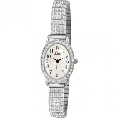 Limit Easy Reader White Dial Stainless Steel Expander Ladies Watch 6029