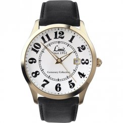 Limit Easy Reader white dial upper leather strap Mens watch 5882