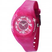 Limit Fruschia fuschia dial resin strap Ladies watch 6805