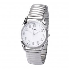 Limit Gents Polished Chrome Expander Wristwatch 5988