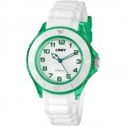 Limit Glacier white dial rubber strap Mens watch 6022