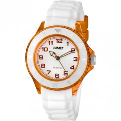 Limit Glacier white dial rubber strap Mens watch 6023