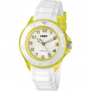 Limit Glacier white dial rubber strap Mens watch 6026