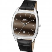 Limit Gradient black dial upper leather strap Mens watch 5513