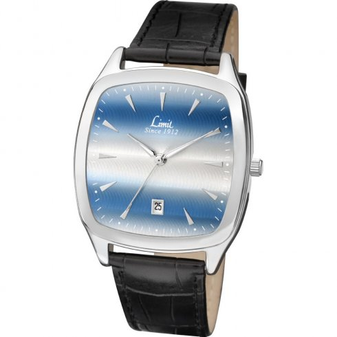Limit Gradient blue dial upper leather strap Mens watch 5514