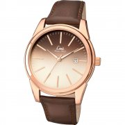 Limit Gradient brown dial upper leather strap Mens watch 5508