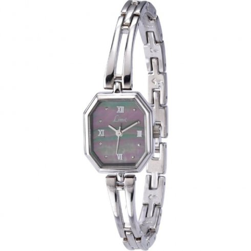 Limit Grey Dial Stainless Steel Semi-Bangle Ladies Watch 6859