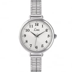 Limit Heather Silver Dial Expander Bracelet Ladies Watch 6003