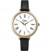 Limit Heather White Dial Black Strap Ladies Watch 6962