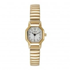 Limit Ladies Octagonal Gold Expander Bracelet Wristwatch 6498