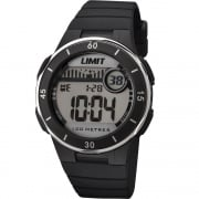 Limit Active Digital Chronograph Black Resin Strap Unisex Watch 5556