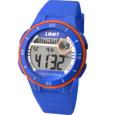 Limit Active Digital Chronograph Blue Resin Strap Unisex Watch 5560