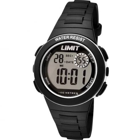 Limit Active Kids Digital Chronograph Black Resin Strap Children Watch 5582