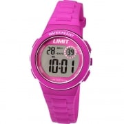 Limit Active Kids Digital Chronograph Pink Resin Strap Children Watch 5584