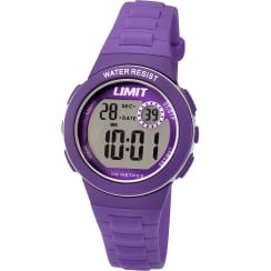 Limit Active Kids Digital Chronograph Purple Resin Strap Children Watch 5585