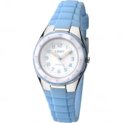 Limit Active Kids White Dial Light Blue Resin Strap Children Watch 5589