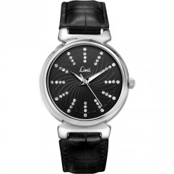 Limit Bella Black Dial Black Upper Leather Strap Ladies watch 6936