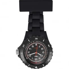 Limit Black Resin Strap Nurses Fob Watch  6110