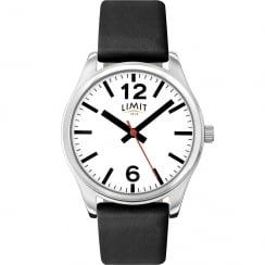 Limit Classic White Dial Black Leather Strap Gents Watch 5626