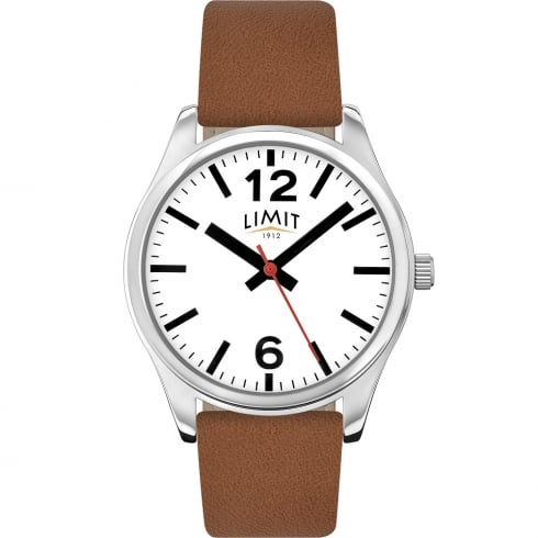 Limit Classic White Dial Tan Leather Strap Gents Watch 5628