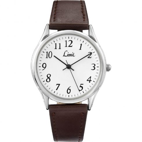 Limit Classic white dial upper leather strap Mens watch 5447