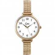 Limit Heather White Dial Gold Expander Ladies Watch 6963
