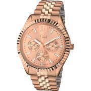 Limit Multifunction Rose Gold Dial Stainless Steel Bracelet Ladies Watch 6079