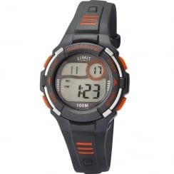 Limit Racing Digital Alarm Chronograph Grey Resin Strap Children Watch 5635