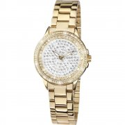 Limit Stone Set Dial Gold Bracelet Ladies Watch 6057