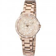 Limit Stone Set Dial Rose Gold Bracelet Ladies Watch 6058