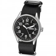 Limit Military Black Dial Black Nylon Strap Gents Watch 5493