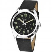 Limit Military Black Dial Black Nylon Strap Gents Watch 5950