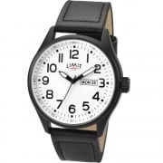 Limit Military White Dial Black Strap Gents Watch 5623