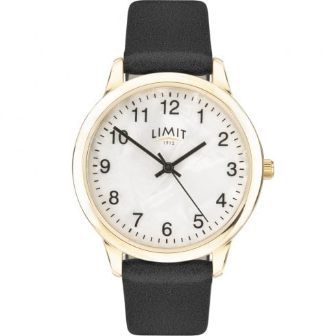 Limit Mother of Pearl Dial Black Strap Ladies Watch 60010