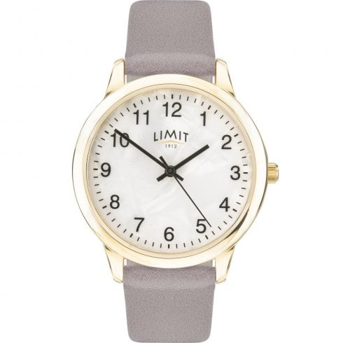 Limit Mother of Pearl Dial Grey Strap Ladies Watch 60012
