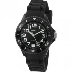 Limit Nitro black dial rubber strap Mens watch 5473