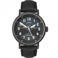 Limit Pilot Black & Teal Dial Black Strap Gents Watch 5972