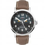 Limit Pilot Black & Teal Dial Brown Strap Gents Watch 5971