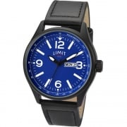 Limit Pilot Blue Dial Black Strap Gents Watch 5622