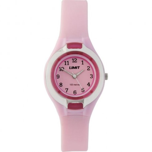 Limit Pink Dial Pink Resin Strap Children Watch 6672