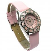 Limit Pink mother of pearl dial Leather strap Ladies watch 6874